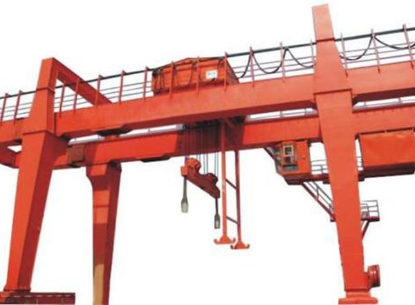 河南矿山双梁门式起重机50吨